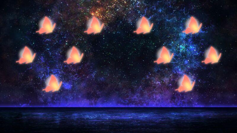 オール赤蝶